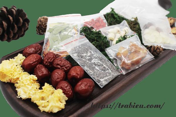 Nên mua nguyên liệu nấu chè dưỡng nhan được đóng gói sẵn