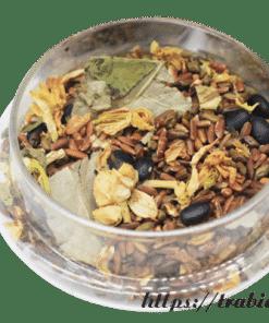Trà gạo lứt xạ đen được làm từ nhiều thành phần